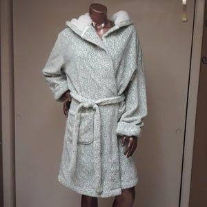 World Market Indie Hooded Fleece Robe